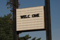 """""""WELCOME"""" sign at former Howard Johnson's restaurant -02- (50866249188).png"""
