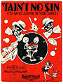'Tain't No Sin (To Dance Around in Your Bones) sheet music, 1929 (9609174465).jpg