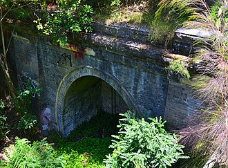 Lapstone, New South Wales - Image: (1)1892 railway tunnel Lapstone
