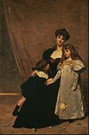 Émile-Auguste Carolus-Duran - Mother and Children (Madame Feydeau and Her Children) - Google Art Project.jpg