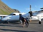 Ísafjörður airport Air Iceland airplane.jpg