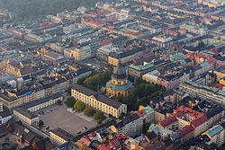 Aerial view of Östermalm