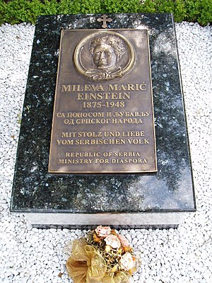 Mileva Marić - Memorial gravestone at the Nordheim Cemetery in Zürich