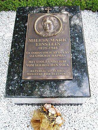 Mileva Marić - Memorial gravestone at the Nordheim Cemetery in Zürich