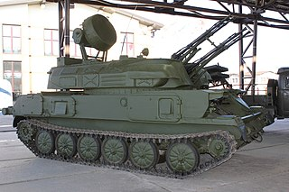 ZSU-23-4 Shilka Type of Self-propelled anti-aircraft gun