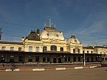 Centrum Żmerynki (źródło: wikimapia) Dworze kolejowy wŻmerynce /Ukraina/