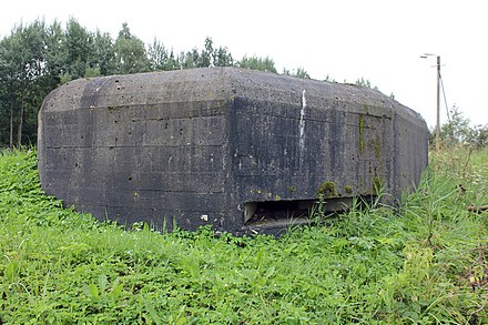 A Tochka (DOT), typical of those found in Soviet fortified regions during World War II Kingiseppskii ukreplennyi raion, DOT No. 26..jpg