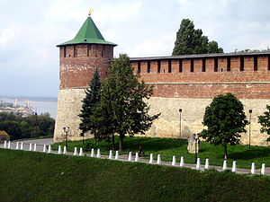 Russo-Kazan Wars - Tower of the Nizhny Novgorod kremlin, built in 1500-11 to repel attacks by the Kazan Tatars.