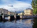 Пикалов мост, вид на Церковь Священномученика Исидора Юрьевского и Николая Чудотворца.JPG