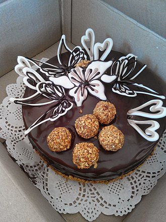 Torte - Chocolate torte with decorated top