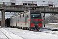 Электровоз 2ЭС5К-063 (ТЧ-2 Котовск), станция Жмеринка, 12.01.2013. - panoramio.jpg