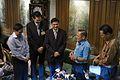 นายกรัฐมนตรีเข้าอวยพรวันเกิดคุณบรรหาร ศิลปอาชา ณ บ้านพ - Flickr - Abhisit Vejjajiva (3).jpg