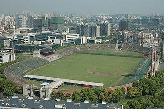 Jiangwan Stadium - The outside of the stadium