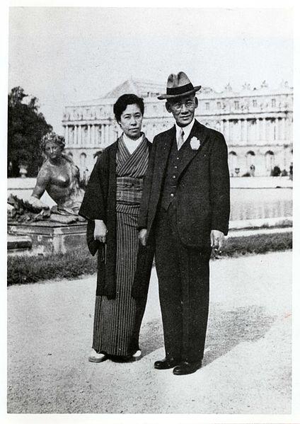 ファイル:岡田三郎助と妻 八千代.jpg
