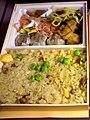 崎陽軒 炒飯弁当 (Kiyōken Chāhan bentō, assort of chahan, shumai, chicken karaage, and yakisoba), 2012-09-09 (by Memorin @ Photozou).jpg