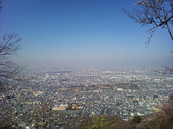 View of Daitō, from mount Iimori