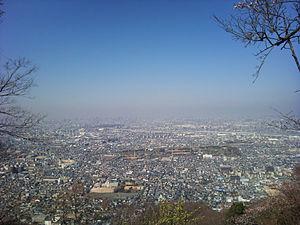 Daitō, Osaka - View of Daitō, from mount Iimori