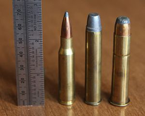 .444 Marlin - .444 Marlin (center) with .308 Win (left) and .45-70 (right)