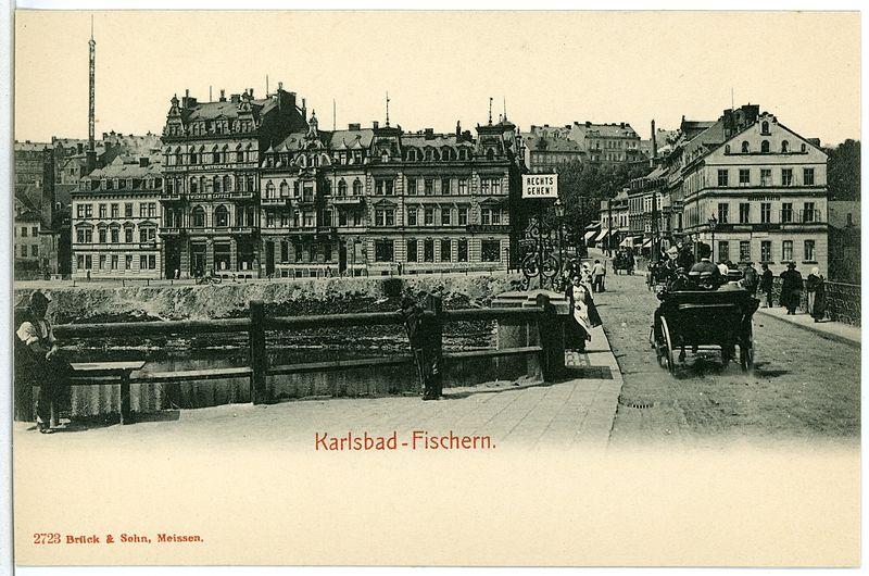 File:02723-Karlsbad-1902-Fischern - Straße mit Landauer-Brück & Sohn Kunstverlag.jpg