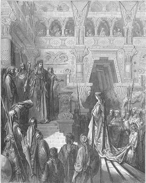 스바 여왕을 맞는 솔로몬 (귀스타브 도레, Gustave Dore, 1865년)