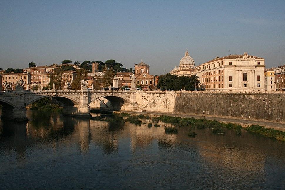 0 Tibre - Pont Vittorio Emanuele II - San Spirito in Sassia - St-Pierre (Vatican)