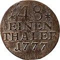 1-48 Taler , Landesdenkmalamt Berlin, Ausgrabung U5, 980 – 1759, Vorderseite.jpg