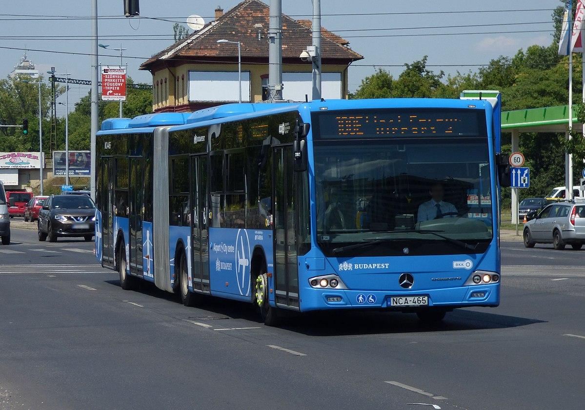 Budapest bus route 100E