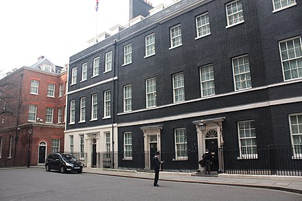 10 Downing Street, where Wilson received Smith in January 1965 10 Downing Street 2010.jpg