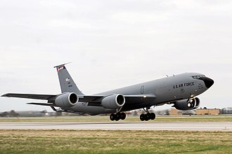 126th Air Refueling Wing - 126th Air Refueling Wing KC-135 59–1500 taking off to a forward deployed location in support of Joint Task Force Odyssey Dawn, 24 March 2011