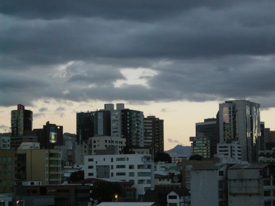 12 de Octubre Avenue Skyline, modern downtown Quito