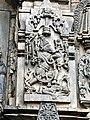 12th-century Belur Vaishnavism Hindu temples complex, Vishnu avatar Varaha saving Bhudevi (goddess earth) and crushing evil demon.jpg
