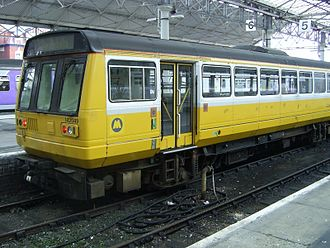Merseytravel - Northern Rail Merseytravel liveried 142049 at Southport station in October 2005