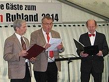15. Amtssängertreffen in Ruhland, Eröffnung durch Chor der Chorleiter.jpg