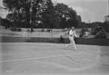 16-6-23, championnat de France de tennis, Blanchy contre Decugis - (photographie de presse) - (Agence Rol).png