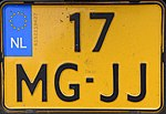 17-MG-JJ motorcycle license plate of the Netherlands.jpg