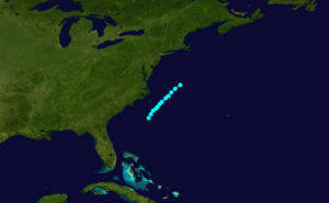 1862 Atlantic hurricane season - Image: 1862 Atlantic tropical storm 1 track