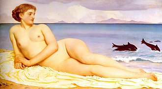 Actaea (Greek myth) - Actaea, the Nymph of the Shore by Frederic Leighton (1853-1858)