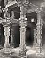 1872 Henry Hardy Cole photo of Hindu and Jain temple pillars reused in Qutb Islam mosque in Delhi.jpg