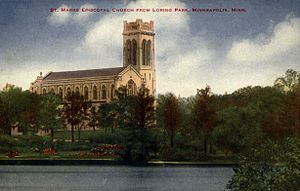 St. Mark's Episcopal Cathedral (Minneapolis) - 1907 postcard showing St. Mark's