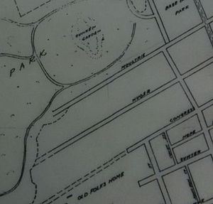 Hampton Park Terrace - This portion of a 1912 street map shows the area of Charleston that would become Hampton Park Terrace just before its cross streets were laid out.