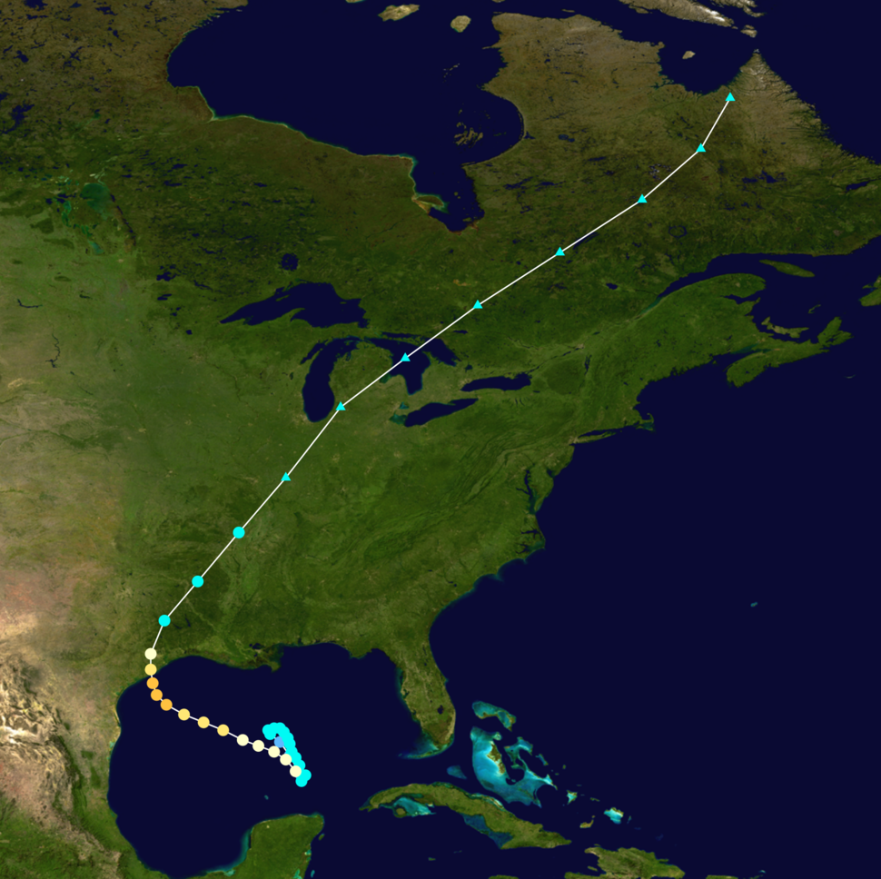 1941 Atlantic hurricane 2 track