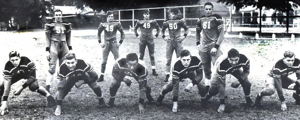 1941 Doc Blanchard on Gulf Coast Championship St Stanislaus football team