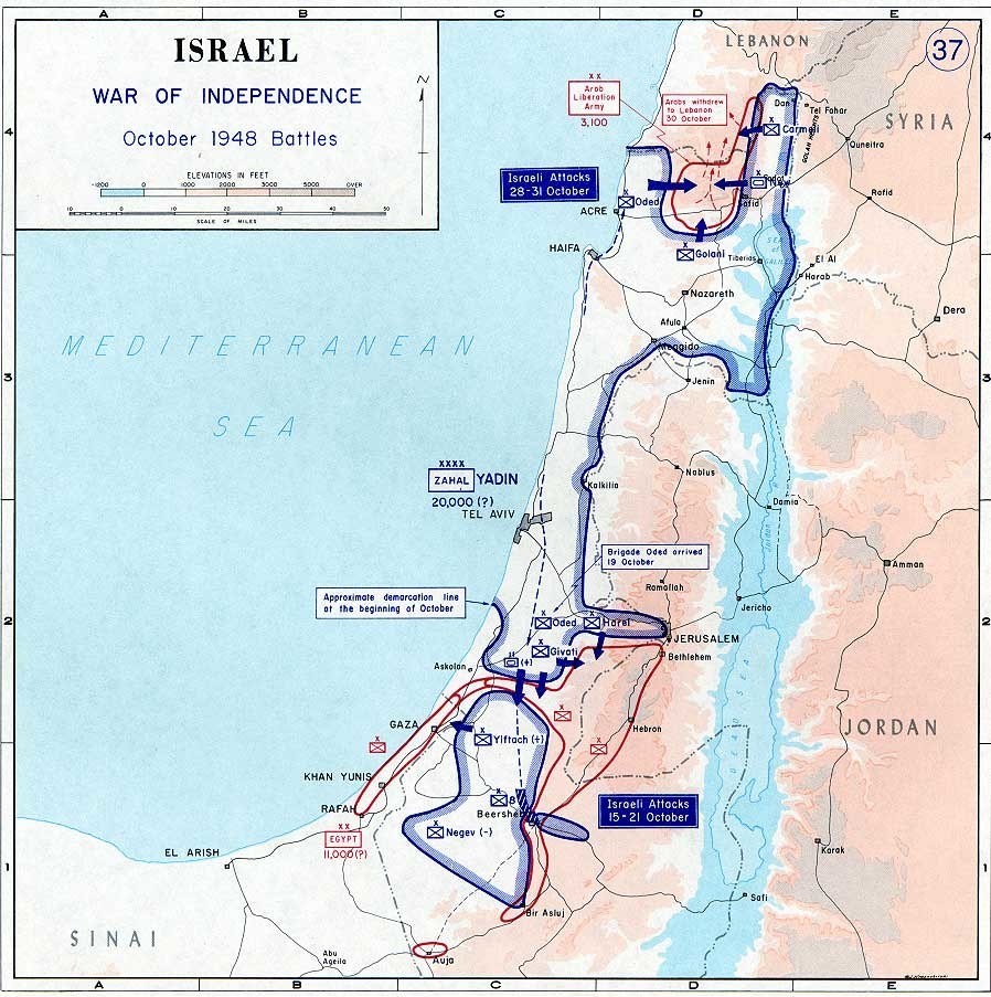 1948 arab israeli war - Oct