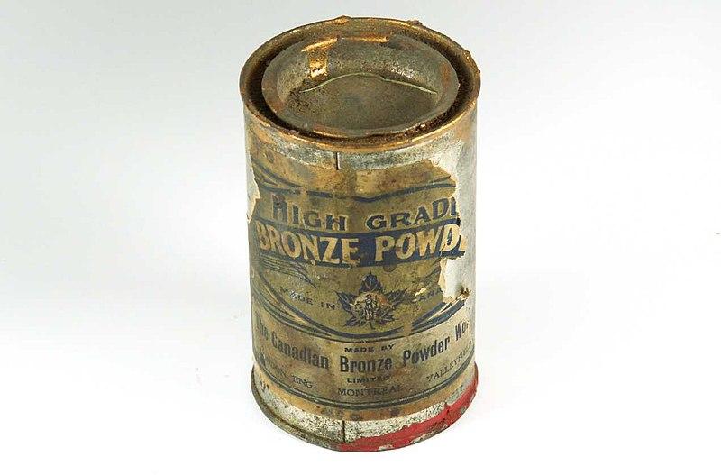 File:1949 c1949 High Grade Bronze Powder made in Canada.jpg