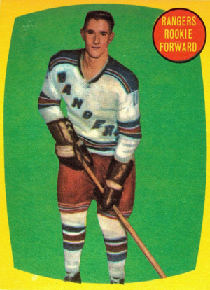 Jean Ratelle - Ratelle's rookie trading card