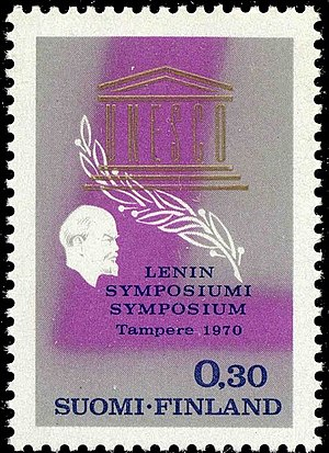 Finlandization - In April 1970, a Finnish stamp was issued in honor of the 100th anniversary of the birth of Vladimir Lenin and then the Lenin Symposium held in Tampere.