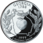 Georgia quarter dollar coin