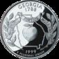 Georgia moeda dólar de um quarto