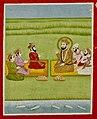 19th century Janam Sakhi, Guru Nanak meets Sudhar Sain, Jhanda Badhi and Indar Sain.jpg