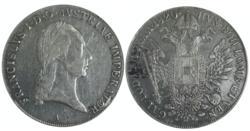 Silver coin: 1 thaler Franz I, 1820 (Source: Wikimedia)